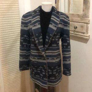 Casual Corner Indian Blanket Blazer Jacket 4